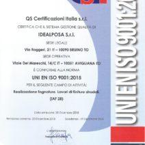 Certificato QS IDEALPOSA 9001